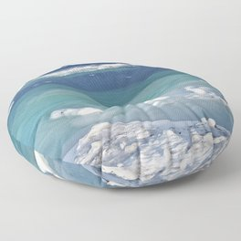 Snow and Ice pool Floor Pillow