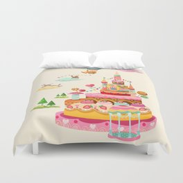 Ice Cream Castles In The Air Duvet Cover