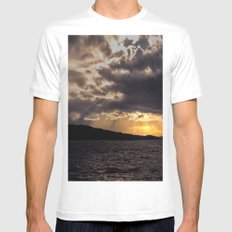 Dramatic change in the weather Mens Fitted Tee White MEDIUM