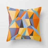 metropolis Throw Pillows featuring Metropolis by Norman Duenas