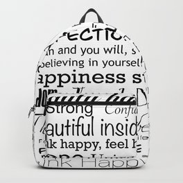 Good vibes happy thoughts Backpack