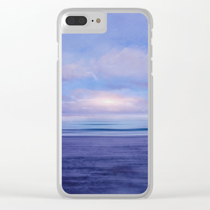 The Sea is Calm 02 Clear iPhone Case