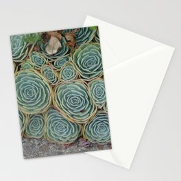 Pattern Green Stationery Cards