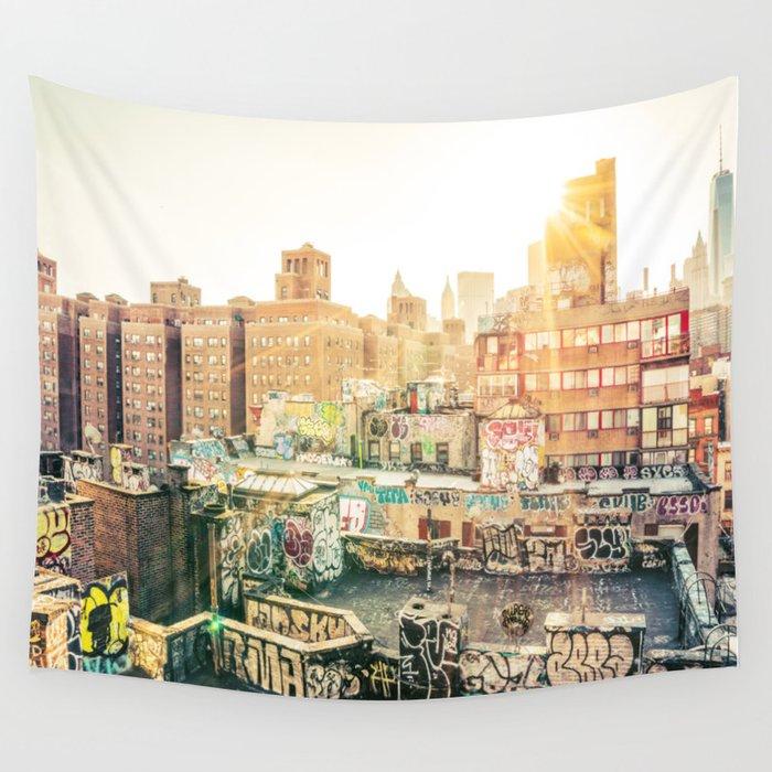 New York City Graffiti Wall Tapestry by newyorkphotography | Society6