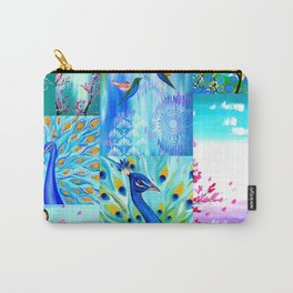 Aqua collage Carry-All Pouch