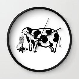 Happy Meat Wall Clock