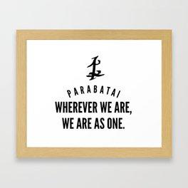 Parabatai Framed Art Print