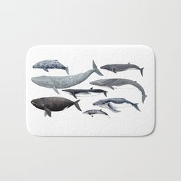 Whales and right whale Bath Mat