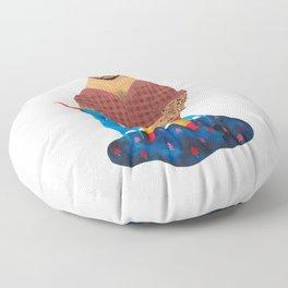 Paul Bunyan and Babe Floor Pillow
