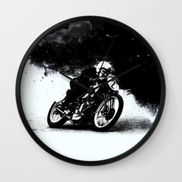 The Vintage Motorcycle Racer Wall Clock