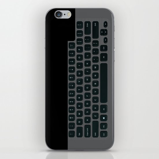 Brushed Metal Keyboard iPhone & iPod Skin