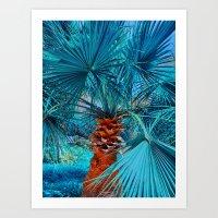 palm tree Art Prints featuring Palm Tree by DistinctyDesign