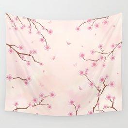 Cherry Blossom Dream Wall Tapestry