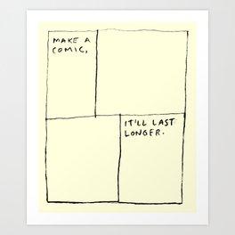 Make A Comic Art Print