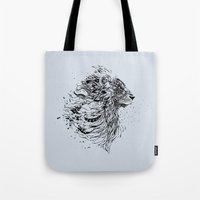 leo Tote Bags featuring Leo by Daniac Design