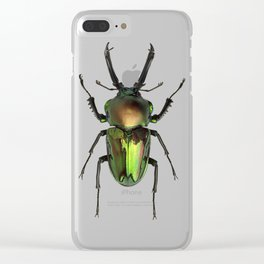 Rainbow Stag Beetle Clear iPhone Case