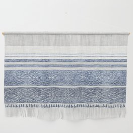 FRENCH LINEN CHAMBRAY TASSEL Wall Hanging