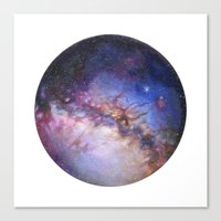 milky way Canvas Prints featuring Milky Way by Trisha Thompson Adams