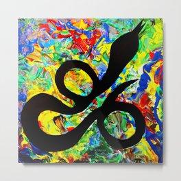 Mushy Snake Vibes Metal Print