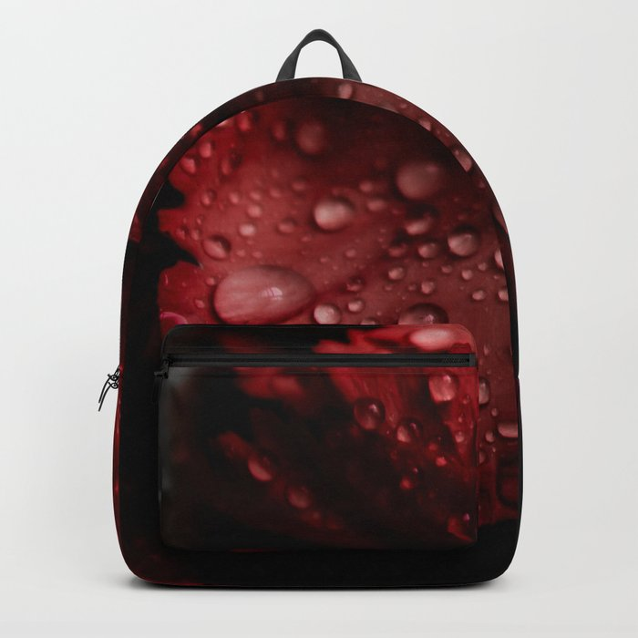 Carnations with drops. Backpack