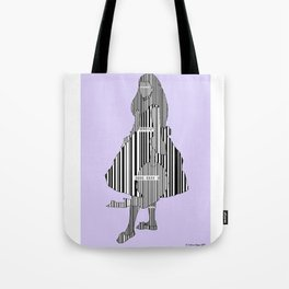 Whistler in Barcode Harmony in Grey and Green, Lavender Tote Bag