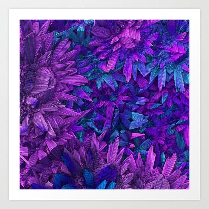 Purple Jungle Art Print