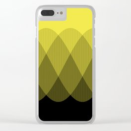 Yellow Ombre Signal Clear iPhone Case