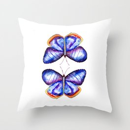 Butterflies meditation Throw Pillow