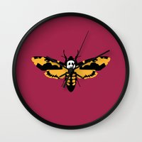 silence of the lambs Wall Clocks featuring The Silence of the Lambs by FilmsQuiz