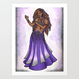 Hazine Goddess Belly Dancer Art Print