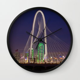 Arched Pathway to Dallas in Lights Wall Clock