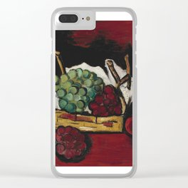 Marsden Hartley 1878-1943 GREEN AND PURPLE GRAPES IN BASKET Clear iPhone Case