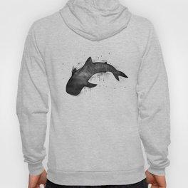 Whale shark, black and white Hoody