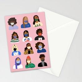 Masked Up Stationery Cards