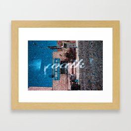 Walking Iron Framed Art Print