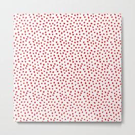Red Dot Illustraion Metal Print