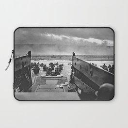 Omaha Beach Landing D Day Laptop Sleeve