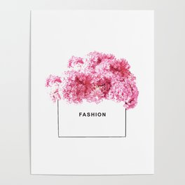Fashion, Flowers, Pink, Modern, Minimal, Interior, Wall art Poster