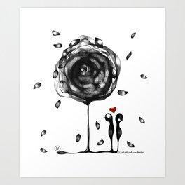 """L'amore accade"" Art Print"