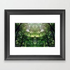 Mirror Forest Framed Art Print