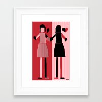 sisters Framed Art Prints featuring sisters  by sladja