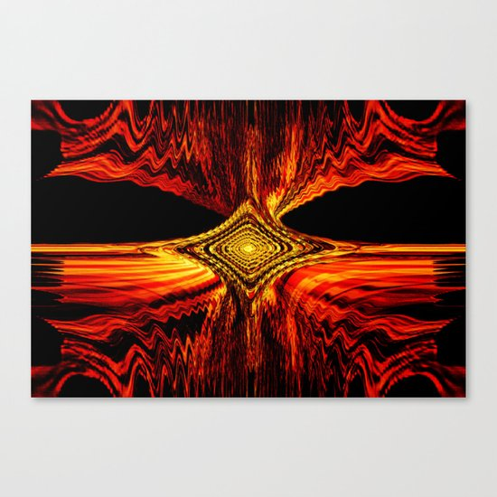Abstract.Red Flame. Canvas Print