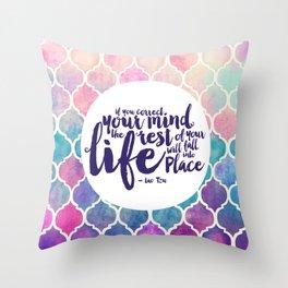 Correct Your Mind Throw Pillow