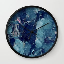 Blue marble texture Wall Clock