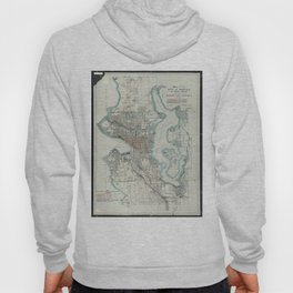 Vintage Map of Seattle Washington (1911) Hoody