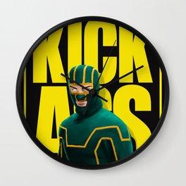 Creepy Kick Ass Wall Clock