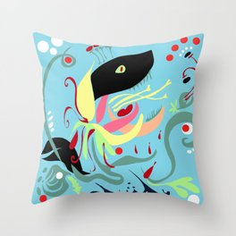 The Hungry Flower Throw Pillow