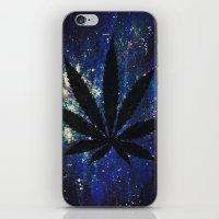 marijuana iPhone & iPod Skins featuring Marijuana Galaxy by Megan Mayhem 17
