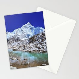Mount Nuptse view and Mountain landscape view in Sagarmatha National Park, Nepal Himalaya. Stationery Cards