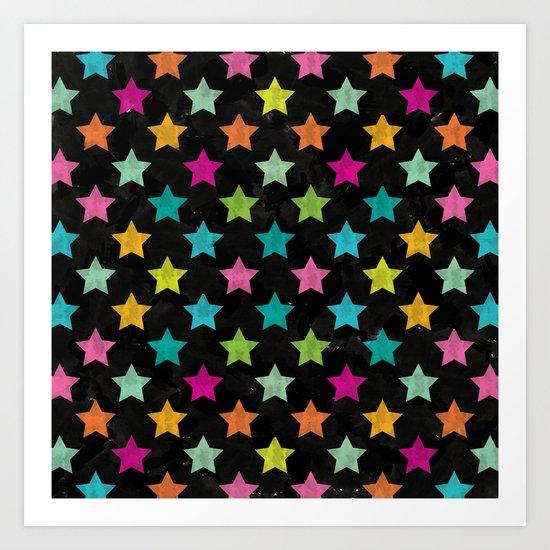 Colorful Star II Art Print